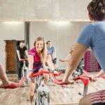 Trening grupowy rowery