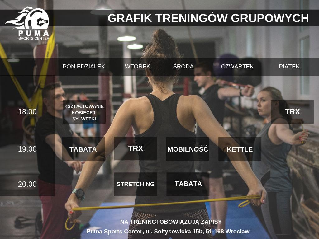 GRAFIK TRENINGÓW GRUPOWYCH